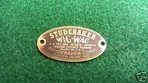 Studebaker Wig Wag Tail Light Acid Etched Brass Data Plates 2 In Set