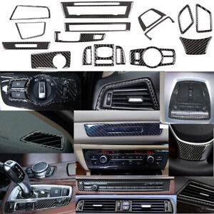 For Bmw F10 5 Series Carbon Fiber Interior Accessories Whole Kit Cover 2011 2017