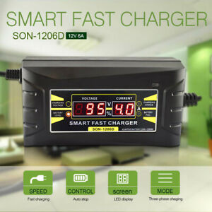 Automatic Battery Charger Motorcycle Trickle Float For Tender Maintainer 12v 6a