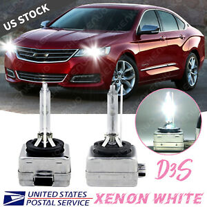 D3s 35w Hid Headlight Bulb For Chevy Impala 2014 2017 Low High Beam Stock Qty2