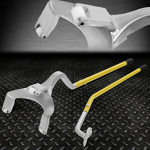 17 5 To 24 5 roller Truck Tire Changer Demounting Tool Set W bead Keeper Yellow