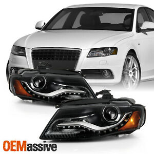 For 2009 2010 2011 Audi A4 Hid Xenon Oe Style Projector Headlights Pair Housing