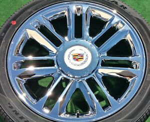Cadillac Escalade Platinum Wheels Tires Set 4 New 22 Inch Oem Factory Gm Style