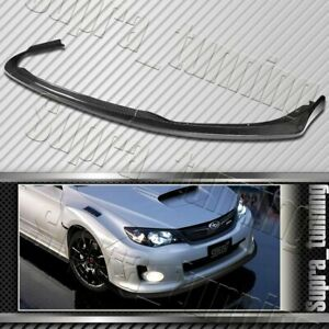 Cs2 Style For 2011 2014 Subaru Wrx Sti Real Carbon Fiber Front Bumper Body Lip