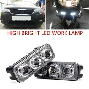 3 Led Motorcycle Daytime Car Running Lights Strobe Warning Light Front Fog Lamp