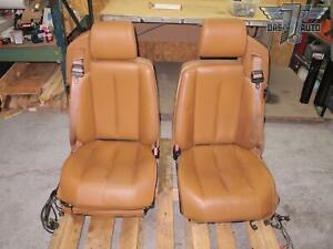 90 95 Mercedes R129 Sl class Set Of 2 Front Left Right Leather Seat Oem
