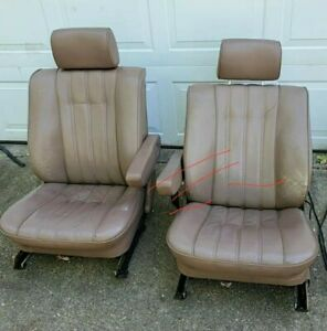 Two Front Bmw E28 Comfort Seats Electric Lama Brown 1982 1988