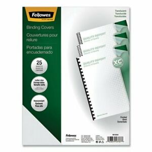 Fellowes Futura Presentation Binding System Covers Frost 25 pack fel5224301