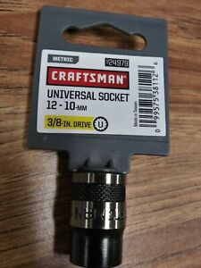 Craftsman Universal Socket 12 10 Mm 3 8 Drivemetric No 24979 New
