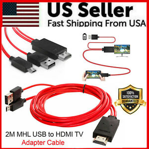 Micro USB MHL To HDMI 1080P Cable TV Out Lead For Android Samsung Phones Male $8.49