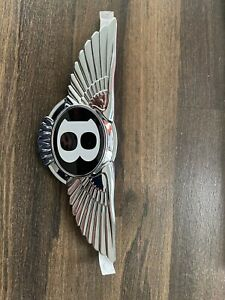 New 2020 Bentley Gt Gtc Front Wing Badge Emblem Oem New Black