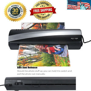 A4 9 Photo Paper Hot And Cold Thermal Laminator Machine 3 5min Laminating H2c1