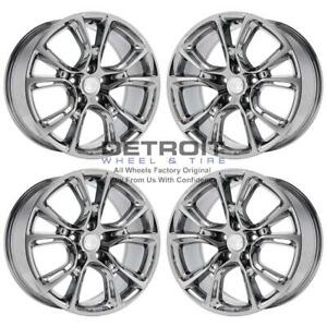 20 Jeep Grand Cherokee Pvd Bright Chrome Wheels h Rims Factory Oem 9113 Exch
