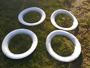 Wide White Wall Tire Insert Trim Set Of 4 Fits 15 Wheels Rat Rod Hot Rod