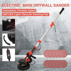 Commercial Drywall Sander 800w Electric Adjustable 6 Speed W sand Pad Light Bar