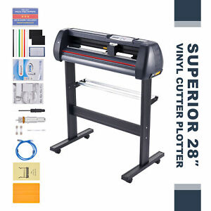 Vinyl Cutter Machine 28 Inch Feed 31in sec Sign Maker Cutting Kit W Signmaster