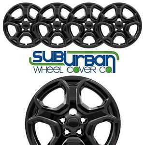 2017 2019 Ford Escape S 525 17blk 17 Gloss Black Hubcaps Wheel Covers Set 4