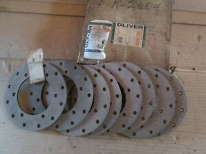 Oliver Tractor 77 s77 88 s88 770 880 Brand New 8 Brake Linings With Rivet Nos