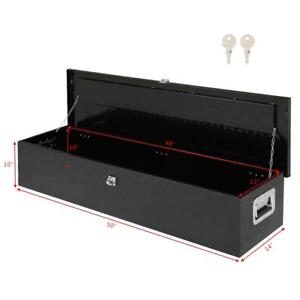 50 x14 aluminum Tool Box Tote Storage For Truck Pickup Bed Trailer Tongue W lock