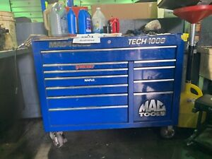 Blue Mac Tool Box Tech 1000 Great Condition With Free Small Cart
