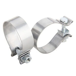 2pcs 2 5 2 1 2 Stainless Steel Band Exhaust Clamp Buckle Type powerful 304