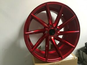 20 Red Swirl Style Rims Fits 5x114 3 Wheels 35mm Et Wheel G35 G37 Staggered