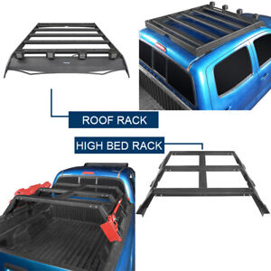 Top Roof Rack High Bed Rack Luggage Carrier For Toyota Tacoma 2005 2021 Steel