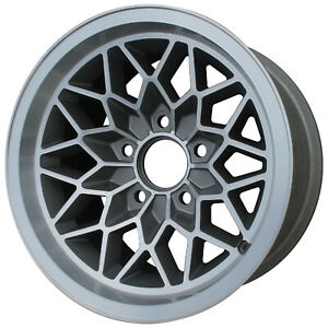 Alloy Wheel 15x8 Medium Charcoal W machined Face Snowflake Design 5x4 75 Bp