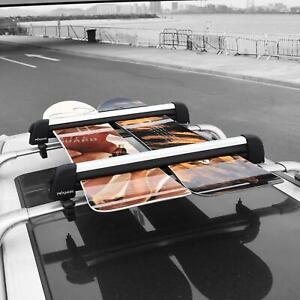 Aluminum Car Ski Snowboard Car Roof Carrier Rack Fit 8 Pairs Skis Or 4 Snowboads