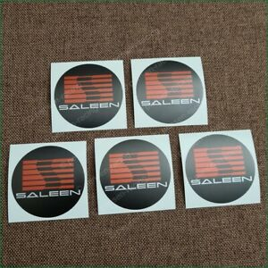 X5 51mm 2 Saleen Ford Mustang Red Stickers Wheel Caps Vinyl Decals Kit