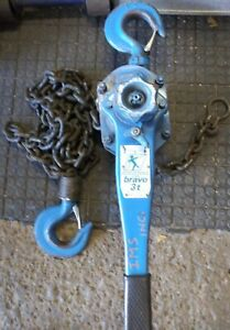Tractel Bravo 3 Ton Lever Hoist Come a long 10ft Chain Iso Certified Over Head