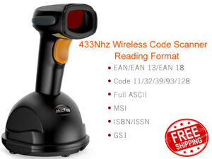 Hootoo Bs036 433mhz Wireless Portable Barcode Scanner With Charging Base Ls03