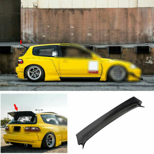 For Honda Civic Eg 1992 1995 Dry Carbon Fiber Rb Rear Trunk Spoiler Wing Flap 1x