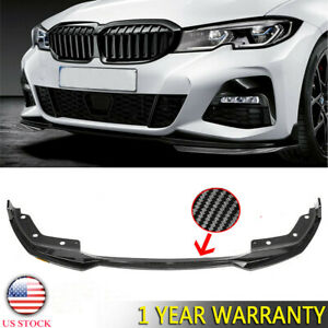 Us Carbon Fiber Look Front Bumper Lip Spoiler For 19 21 Bmw 3 Series G20 M Sport