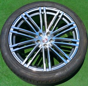 New Porsche Macan 21 Wheels Continental Tires Turbo Design Oem Factory Style Set