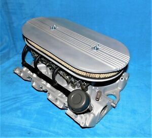 61 62 Ford Galaxie Fairlane 390 406 427 Fe Tri Power Intake Carbs Air Cleaner