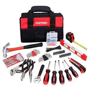 215 piece Home Repairing Tool Set With 12 inch Wide Mouth Open Storage Bag