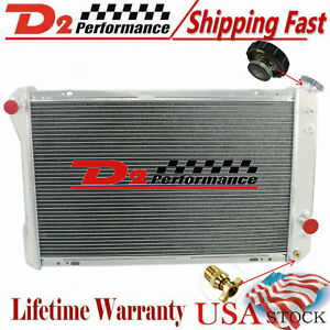 3 Row Aluminum Radiator For Chevy Camaro Z28 Pontiac Firebird L4 V6 V8 1982 1992