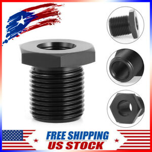 Car 1 2 28 To 3 4 16 Threaded Adapter Automotive Oil Filter Steel Black Knurled