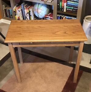 Vintage Oak Child S Desk