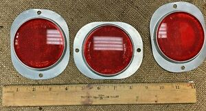 Vintage Stimsonite 12mh Reflectors 3 Sets Of 2 Reflectors No 12a Red
