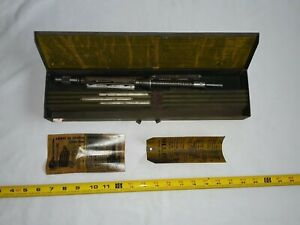 Vintage Ammco Small Bore Hone Kit W Metal Case Model 100 Range 47 64 To 1 5 16