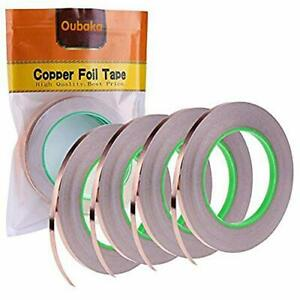 4 Pack Copper Foil Tape copper Tape Double sided Conductive With Adhesive