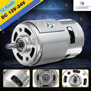 12 Kinds Large Torque High Power 775 Motor Dc 12 24v Low Noise 3000 15000rpm New