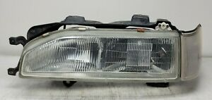 1987 1990 Acura Legend Coupe Left Headlight Assembly W Corner Turn Signal Oem