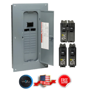 Square D 100 Amp 40 circuit 20 space Indoor Main Breaker Box Panel Load Center