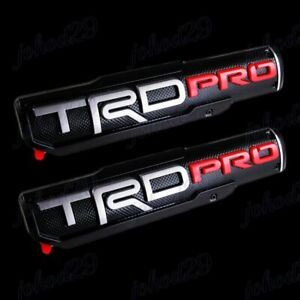 2 X Trd Pro Emblem 10 X 2 25 3d Abs Molded Nameplate Badge For Toyota Tacoma