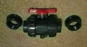 2 Threaded socket Pvc Sh 80 Ball Valve With Epdm O rings
