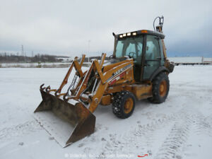 2005 Case 580 Super M Series Ii 4x4 Extend a hoe Loader Backhoe Cab Bidadoo