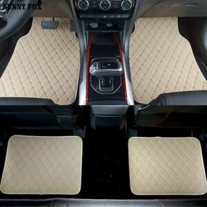 Car Floor Mats For All Weather Rubber Heavy Duty Protection Auto Suv Van 4 Pcs